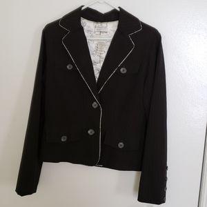 NWT Black Pinstripe Cropped Blazer